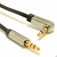 Low Profile FLAT Metal 3.5mm Right Angle Male Jack to Jack Cable  4m