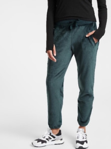 Athleta Teal Green Soft Warn Double Cozy Karma Recover Jogger Pants XX-Small