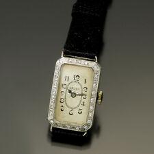 WOMAN'S VINTAGE PLATINUM DIAMOND GRUEN WATCH CA1930S