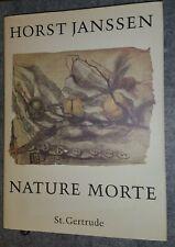 Horst Janssen nature morte St. Gertrude Buch über Stilleben