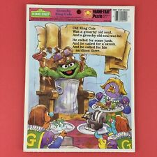 Vintage Sesame Street Frame Tray Puzzle Oscar the Grouch King Cole 1989 Golden