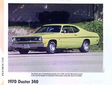 1970 Plymouth Duster 340 ci 275 hp info/specs/photo prices production 11x8