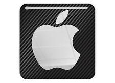 """Apple 1""""x1"""" Chrome Domed Case Badge / Sticker Logo"""