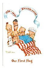 Kewpie Dolls Postcard Bicentennial 1776-1976 Rose O'Neill Our First Flag Sewing