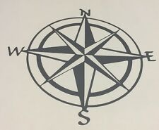 Compass decal | Grey Compass Vinyl Sticker | Camping Decal | Hiking Sticker