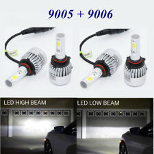 Combo 9005 9006 LED Headlight Bulb Kit For Chevy Silverado1500 2500 HD 2001-2006