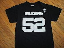 OAKLAND RAIDERS MACK JERSEY T SHIRT Khalil 52 Reebok NFL Licensed Football MED