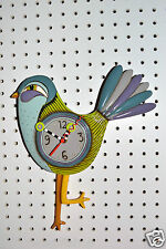 Whimsical Michelle Allen Designs Funky SASSAFRASS Clock ships PRIORITY in 24 hrs