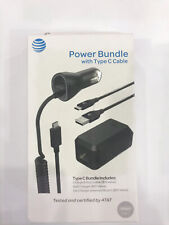 NEW OEM AT&T Certified Power Bundle CAR + HOME Charger With Type C Cable