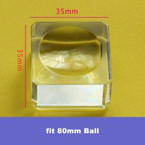 Glass Display Stand For Large Crystal Lens Ball Photography Base & Sphere Holder