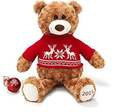 Avon 2015 Plush Teddy Bear Red/Reindeer & Snowflakes Holiday Sweater New in bag