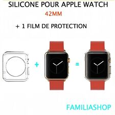 Housse coque protection transparent souple silicone gel apple watch 42MM + film