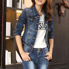 da donna manica lunga jeans Giacca Donna Slim Denim Corto Giacca casual giacca