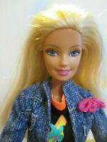 Barbie doll Blonde hair straight Legs & flat feet SUMMER DRESS & JACKET