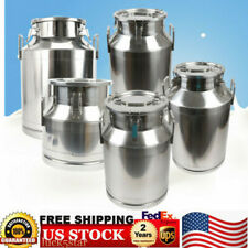Stainless Steel Milk Storage Can Milk Canister   Bucket   Container 20-60L NEW!