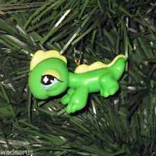 Littlest Pet Shop Sweet GREEN LIZARD Custom Christmas Tree Ornament LPS Reptile