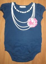 New Baby Girl's 18 Months Dressy Fake Necklaces Ruffle Butt One Piece Snapsuit