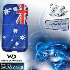 Galaxy S 3 Case Samsung Australian Flag With Genuine Swarovski Crystal Elements