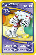 Morrisons Disney Trading Cards 2012: Pepper & Penny from 101 Dalmatians (F2)