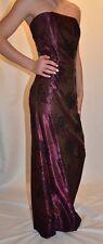 JESSICA McCLINTOCK Gunne Sax Red Wine Strapless Prom Evening DRESS SZ  7 JRs