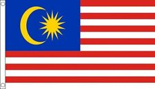 "Malaysia Bunting 9M Metre Length With 30 Flags 9/""X6/"" 100/% Woven Polyester"