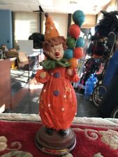 Gift Of Time Clown Balloons Orange Display Used Vintage