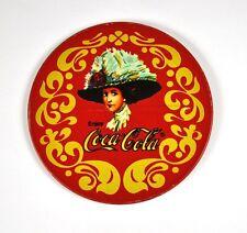 Coca-Cola Coke Metal Cork Coasters Beer coasters Coaster USA - Lady with Hat