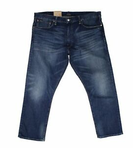 Polo Ralph Lauren Mens Jeans Blue Size 38X30 Relaxed Straight Stretch $89 #049