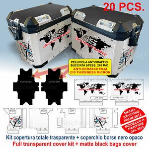 Kit adesivi borse valigie BMW R1200 - R1250 GS ADV GLOBO BUSSOLA bags stickers