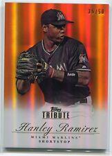2012 Topps Tribute Orange 64 Hanley Ramirez 35/50