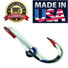 Eagle Claw Tie Clip Pin American Flag Metal Hat Cap J Hook Clasp Made in Usa