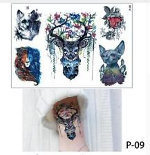 Temporary Tattoo Stickers Body Art Waterproof Five Animals