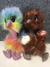TY Beanie Boos Pair of Ostrich - Asha and Orson