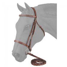 Light Chestnut Raised Snaffle English Bridle W/Stone Crystals Horse Tack 22-9678