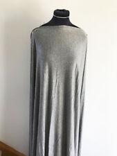 Dressmaking Fabric Silver Grey/Metallic Silver Sparkle Stretch Jersey 1.5 m