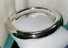 $300 Ross Simons smooth sterling silver puffy Bangle bracelet 950