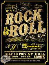 Rock and Roll Fiesta noche: de estilo vintage y retro Metal Sign: Home Bar: Decoración: Cueva de hombre arrojar