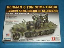 Lindberg Modelo Kit; alemán 8 T Semi-track la segunda guerra mundial 1/72 Model Kits Sd. KFZ. 7/1 20 M