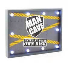 In legno Uomo Grotta inserire a proprio rischio SCATOLA PROFONDA stampa LED barra placca a muro