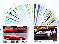 TURBO FULL Complete SET GUM Wrapper CAR Label Insert Card Collection KENT 70 pcs