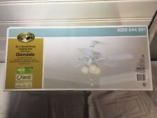 Hampton Bay Glendale 42 in. LED Indoor White Ceiling Fan with Light Kit