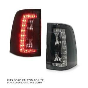 Tail Lights PAIR LED Black fits Ford Falcon FG UTE FGX FG-X Ute XR6 XR8 FPV PR