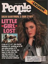 People Weekly January 16 1989 Drew Barrymore Exclusive  w/ML  VG 012816DBE