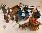 Job lot Britains & Charbens toy metal farm figures buildings carts wagons etc