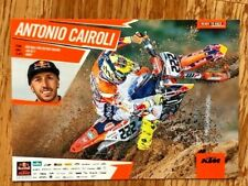 "ANTONIO CAIROLI Red Bull KTM 450SX-F Motorex Mini Poster 5.875"" x 8.25"" NEW!"