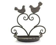 Wall Mounted Cast Iron Vintage Bird Bath Feeder Shabby Chic Garden New