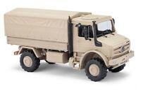 Busch 51020 - 1/87 / H0 Mercedes-Benz Unimog U 5023 Militär - Sandfarben - Neu