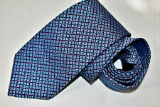 Men's Hermes Paris 659147T (H) Blue  100% Silk Neck Tie made in France