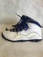 RARE🔥 Nike Air Jordan X 10 Retro TXT White Old Royal Stealth Sz 5.5Y 487215-107
