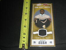 REGGIE BUSH SAINTS 06 SAGE DRAFT SWATCH ROOKIE EVENT WORN CERTIFIED CARD 1 OF 3